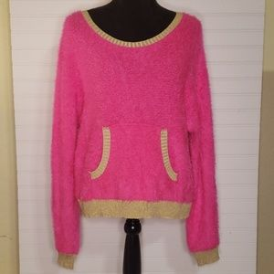 Juicy Couture Neon Pink Eyelash Knit Sweater